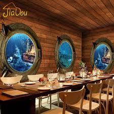pirate home decor aliexpress com اشتري مخصصة 3d ستيريو القراصنة الخشب جدارية الرجعية