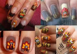 pictures 4 great thanksgiving nail ideas turkey nail