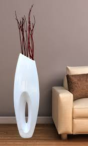 modern white large floor vase 40 inch modern living room