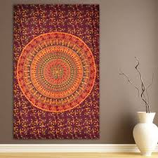 indian mandala cotton tapestry wall hanging decor hippie wall