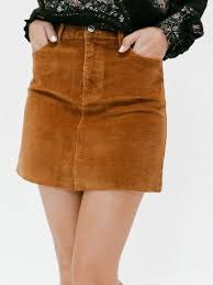corduroy skirt sand corduroy skirt stitch and feather