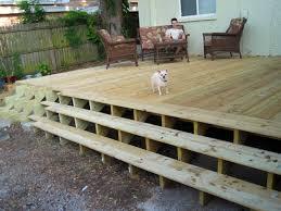 deck with stairs all around round designs