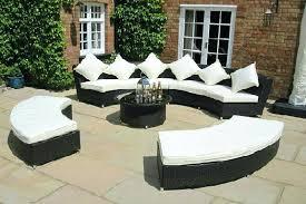 Rattan Curved Sofa Luxury Rattan Furniture Ultimate Rattan Garden Circular