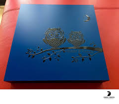 engraved wedding album blue engraved wedding album box custom albums daniel fugaciu