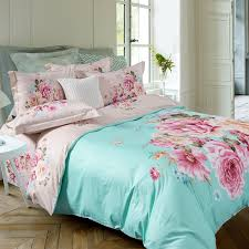 Asian Bedding Sets Mint Green Pink And Beige Asian Inspired Style Flower
