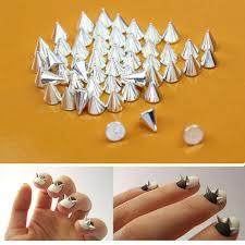 amazon com nail art 3d 150 mix cone spike studs flat back 50