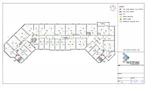 Fire Evacuation Floor Plan Wemac U0026 Associates Fire Safety Plans