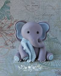 w cake topper baby boy elephant w blanket cake topper sweet morsels llc