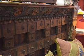 Teak Bed Unique Indian Carved Teak Bed Samax Interiors