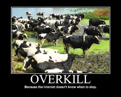Overkill Meme - demotivated the rise and fall of successories and its parodies