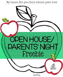 open house and parents u0027 night ideas