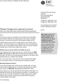benefits payment account changes letter is genuine nidirect