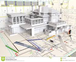 House Layout Drawing by House Layout And Architectural Drawings Stock Photo Image 68444837