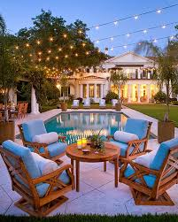 patio string lights interior architecture exquisite outdoor space illuminated with