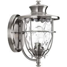 exterior lighting fixtures wall mount progress lighting beacon collection 1 light 6 inch stainless steel