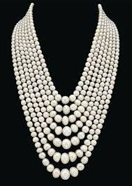 pearl necklace names images Seven strand natural pearl and diamond festoon necklace jpg