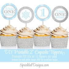 Winter Onederland Party Decorations Winter Onederland Party Decorations Printable Cupcake Toppers