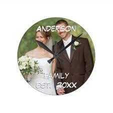 Personalized Wedding Clocks Wedding Favors Wall Clocks Zazzle