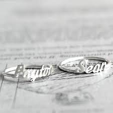 sterling silver name rings name ring personalized sterling silver name ring by bigejewelry