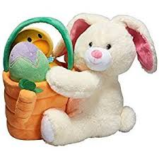 stuffed bunnies for easter prextex plush easter basket with plush easter bunny