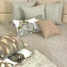 order of pillows on bed buy metallic grill cloud embroidered and quilted velvet bed