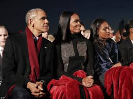 obama and the family light the national tree at