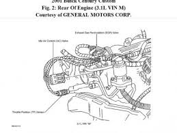 2001 buick century where is the egr valve located