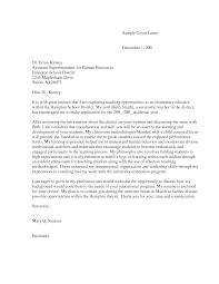 cover letter special education cover letter for montessori teacher choice image cover letter ideas