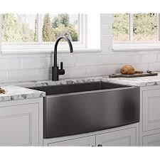 what size undermount sink for 33 inch base cabinet ruvati gunmetal black matte stainless steel 33 inch apron front farmhouse kitchen sink single bowl rvh9733bl
