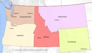 Oregon Map Us by Northwestern Us Political Map By Freeworldmaps Net