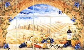 hand made tuscany arch kitchen backsplash tile mural by linda paul