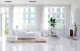 White Bedroom Large Spacious Monochromatic White Bedroom With Fireplace A