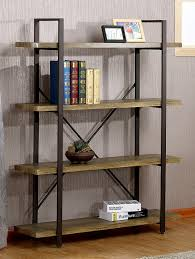 amazon com o u0026k furniture 4 tier bookcase vintage industrial