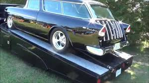 nomad car 1955 1955 chevy nomad and classic car hauler youtube