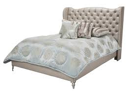 King Size Bed Dimensions Height Michael Amini Hollywood Loft King Size Upholstered Platform Bed