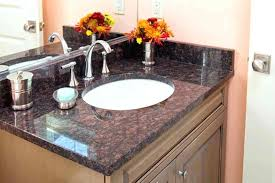 bathroom granite countertop small vanity with sink and types of