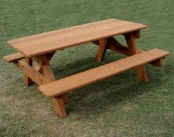 Red Cedar Octagon Walk In Picnic Table by Red Cedar Heavy Duty Picnic Table W Attached Benches