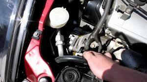 how to change alternator belt mitsubishi eclipse 00 05 youtube