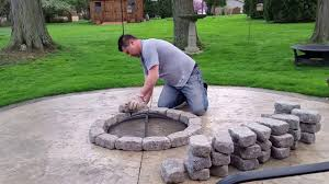 Patio And Firepit Build A Concrete Patio Firepit For 100 Bucks