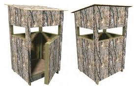 Hunting Ground Blinds On Sale Deer Stand Box Blind Plans Hunting Build Your Own Easy