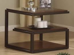 Side Table Decor Ideas by Side Table Decor Triangle Shape Table As Home Decor Brown Laminate