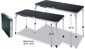 standing height folding table attractive counter height folding table meco adjustable height