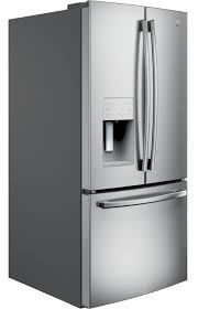 Refrigerator With French Doors And Bottom Freezer - ge 23 8 cu ft french door refrigerator gfe24jskss