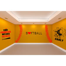 softball bedroom ideas ultimate softball room 5 large softball wall decals to create