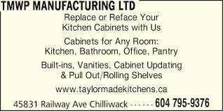 Kitchen Cabinets Chilliwack Taylor Made Wood Products Chilliwack Bc 45831 Railway Ave