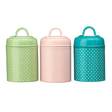 pink kitchen canister set lily range tea coffee sugar storage jars canisters set pastel