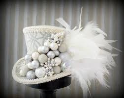 silver ornament mini top hat in mad