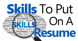 What Is Included On A Resume Skills To Put On A Resume