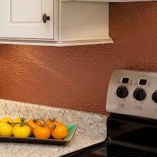copper backsplash for a distinctive kitchen with unique character