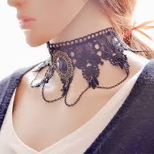 vintage lace necklace images Flower jeweled choker necklace aeropostale at awwake me jpg